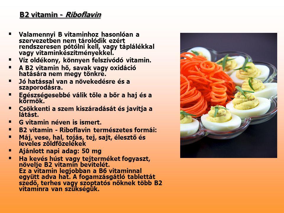 B2 vitamin - Riboflavin