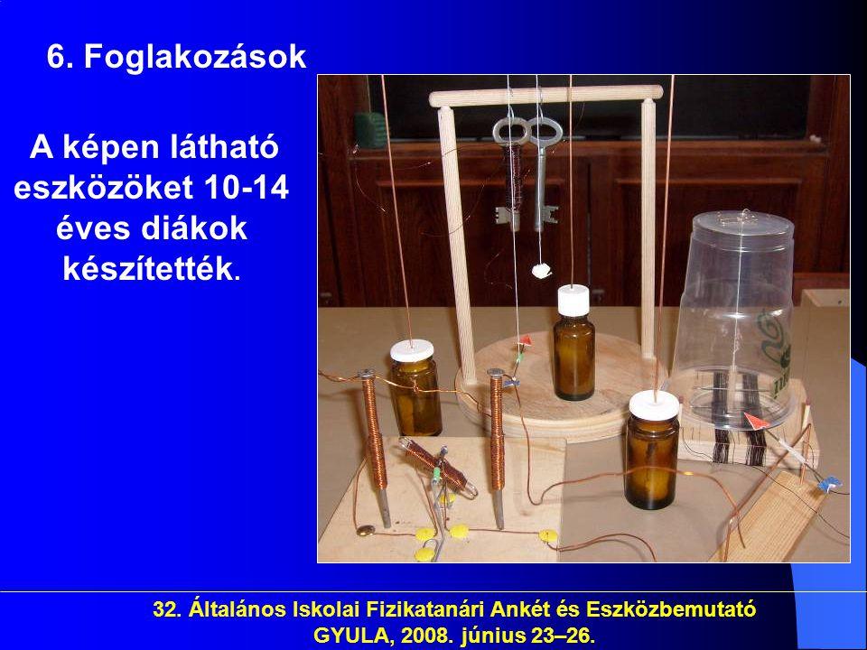 A képen látható eszközöket 10-14 éves diákok készítették.