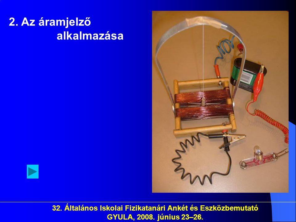 2. Az áramjelző alkalmazása