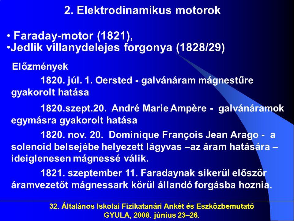 2. Elektrodinamikus motorok