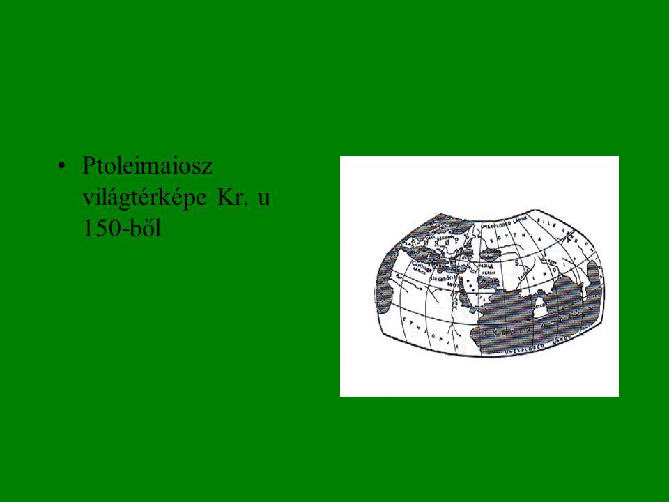 Ptoleimaiosz világtérképe Kr. u 150-ből