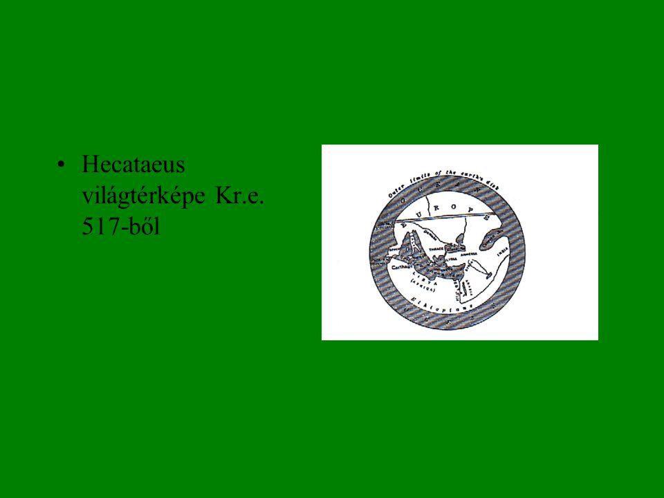 Hecataeus világtérképe Kr.e. 517-ből