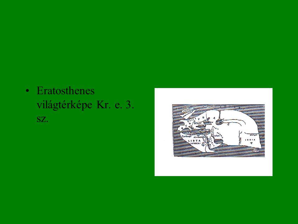 Eratosthenes világtérképe Kr. e. 3. sz.