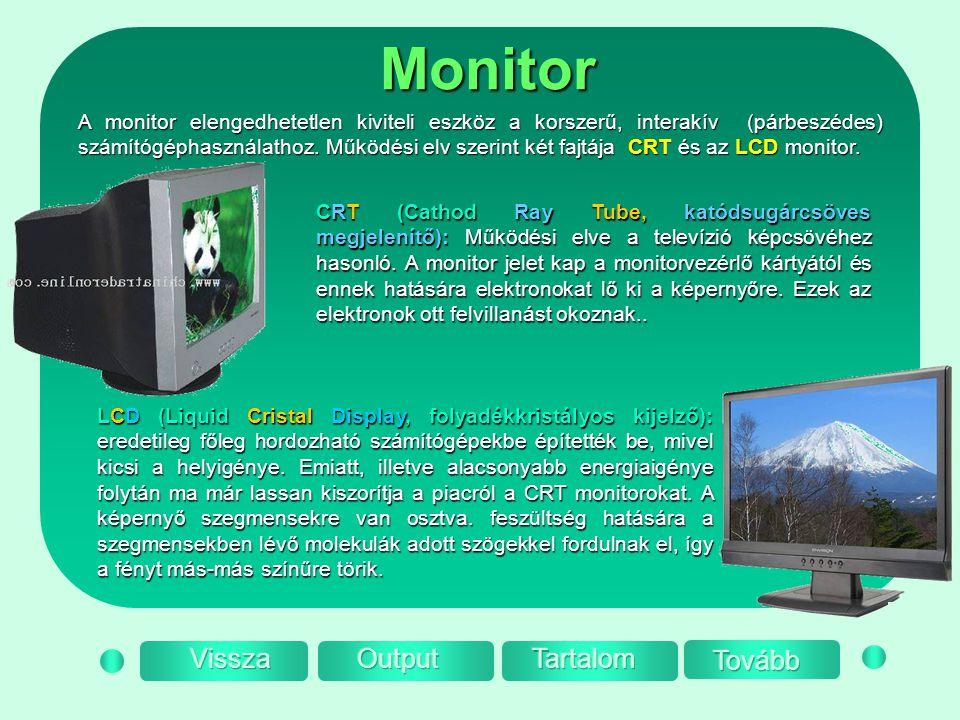 Monitor Vissza Output Tartalom Tovább