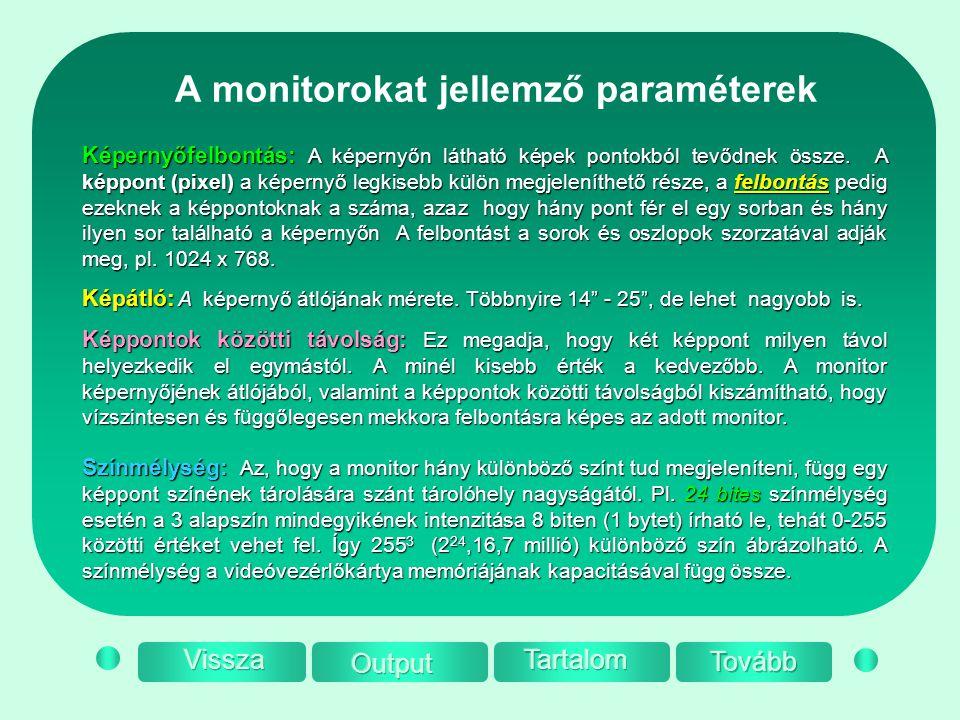 A monitorokat jellemző paraméterek