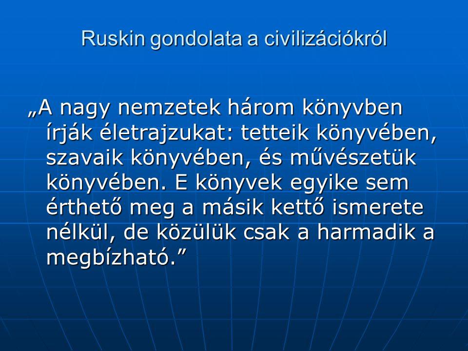 Ruskin gondolata a civilizációkról