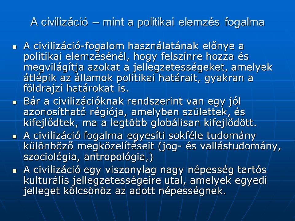 A civilizáció – mint a politikai elemzés fogalma