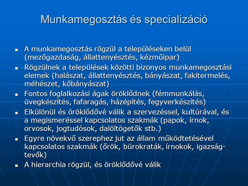 Munkamegosztás és specializáció
