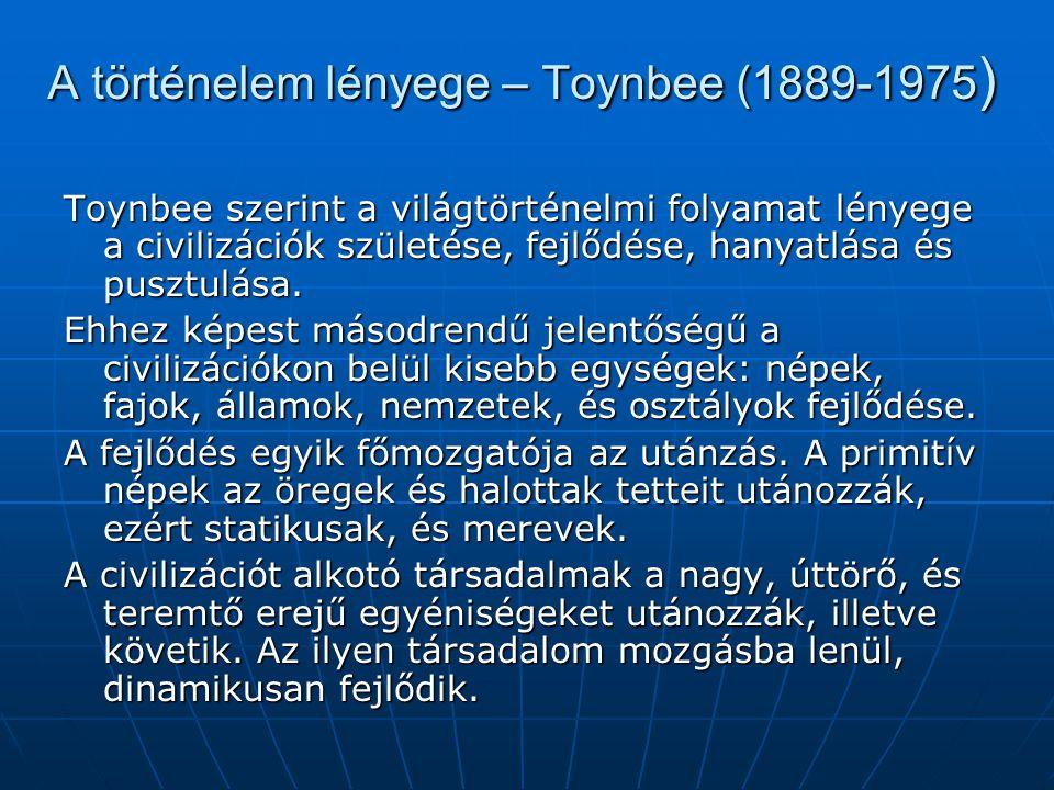A történelem lényege – Toynbee (1889-1975)