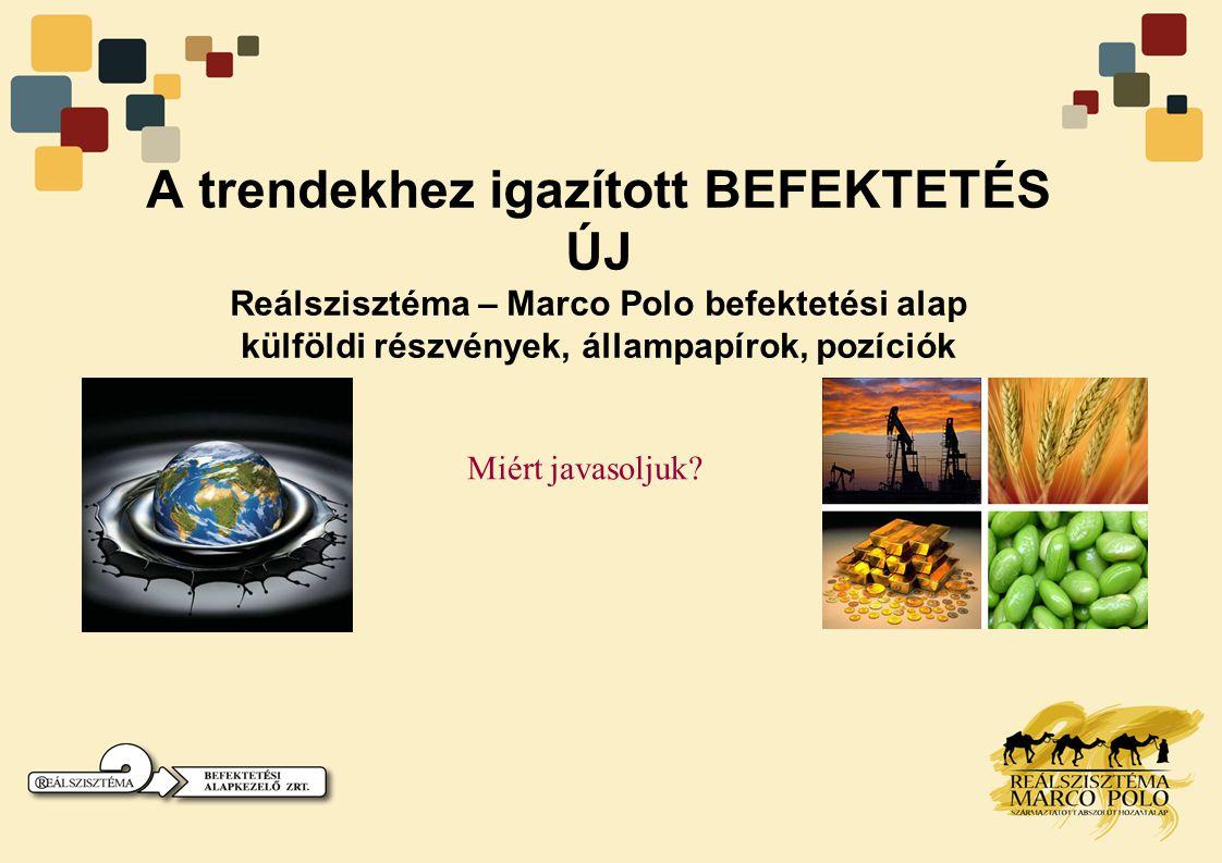 A trendekhez igazított BEFEKTETÉS ÚJ Reálszisztéma – Marco Polo befektetési alap külföldi részvények, állampapírok, pozíciók