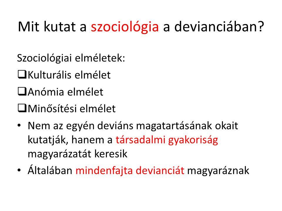 Mit kutat a szociológia a devianciában