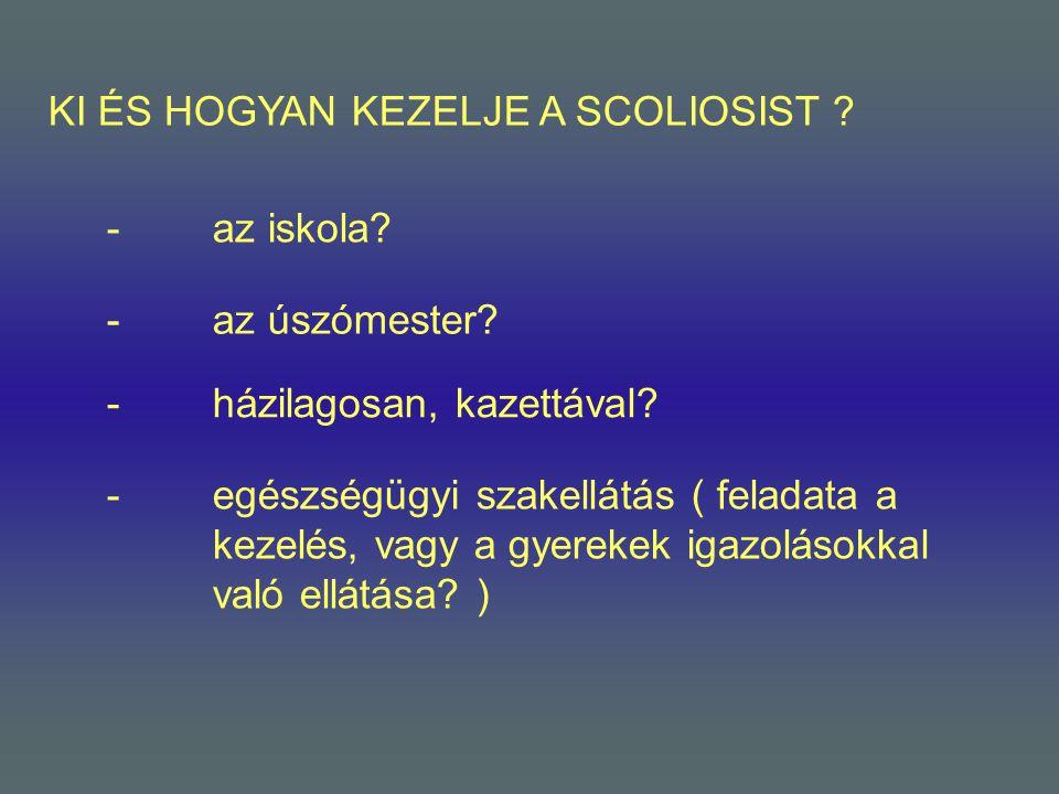 KI ÉS HOGYAN KEZELJE A SCOLIOSIST