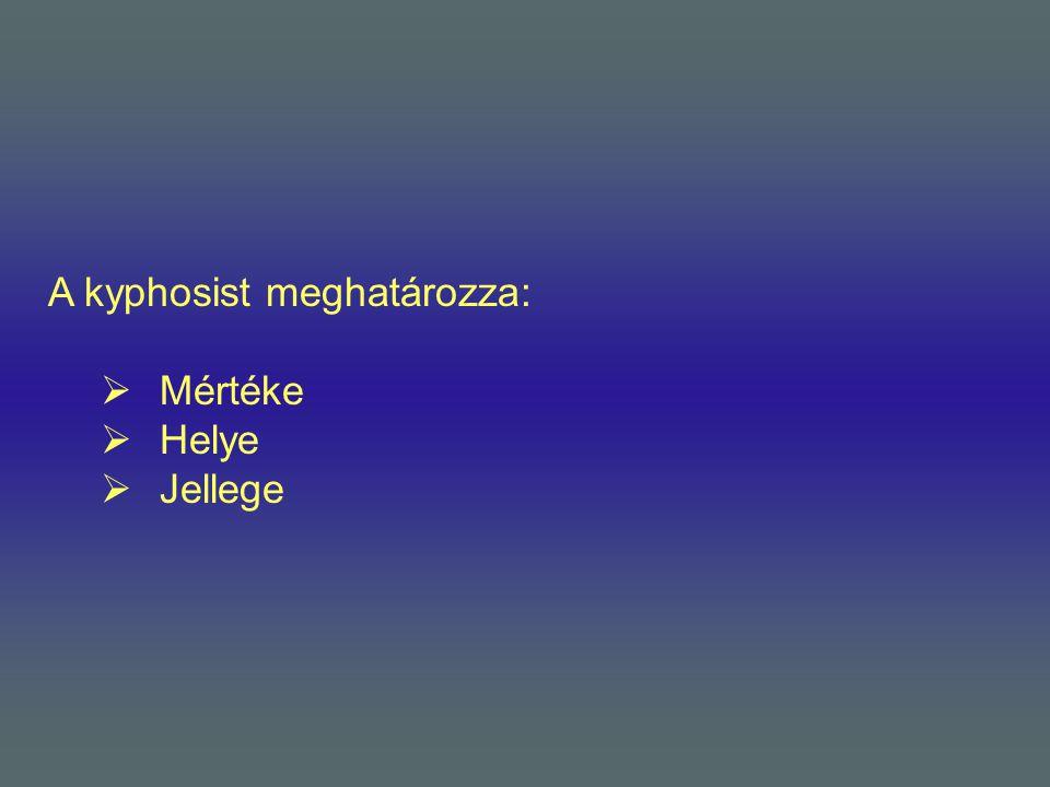 A kyphosist meghatározza: