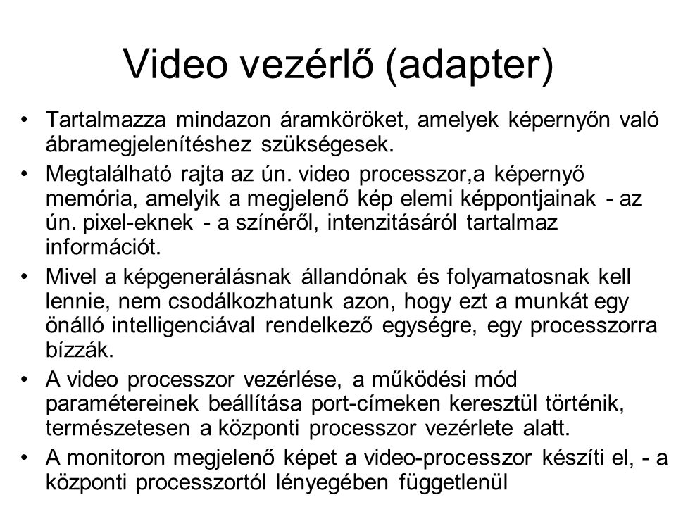 Video vezérlő (adapter)