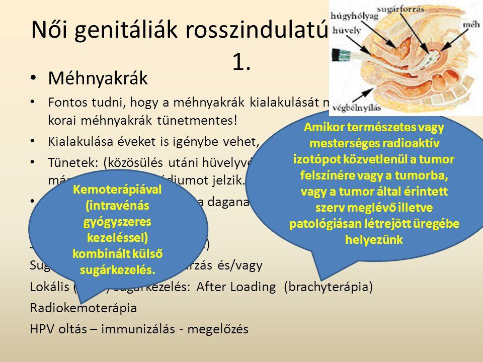 Női genitáliák rosszindulatú betegségei 1.