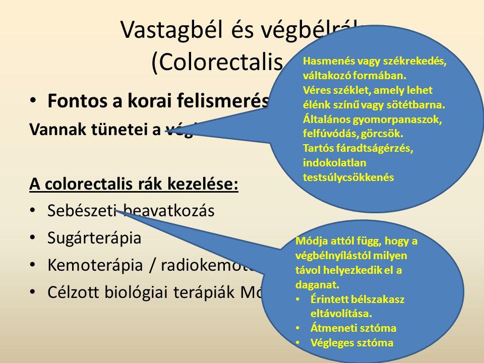 Vastagbél és végbélrák (Colorectalis rák)