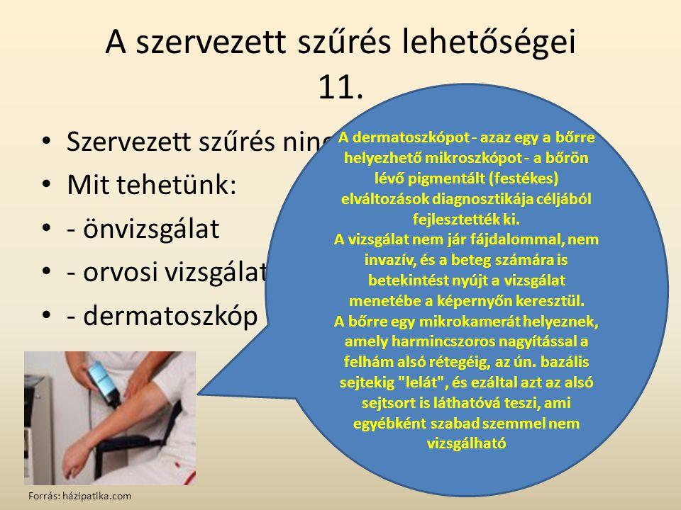 A szervezett szűrés lehetőségei 11.