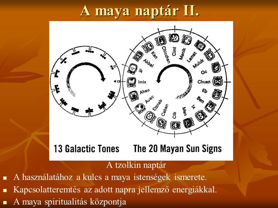 A maya naptár II. A tzolkin naptár