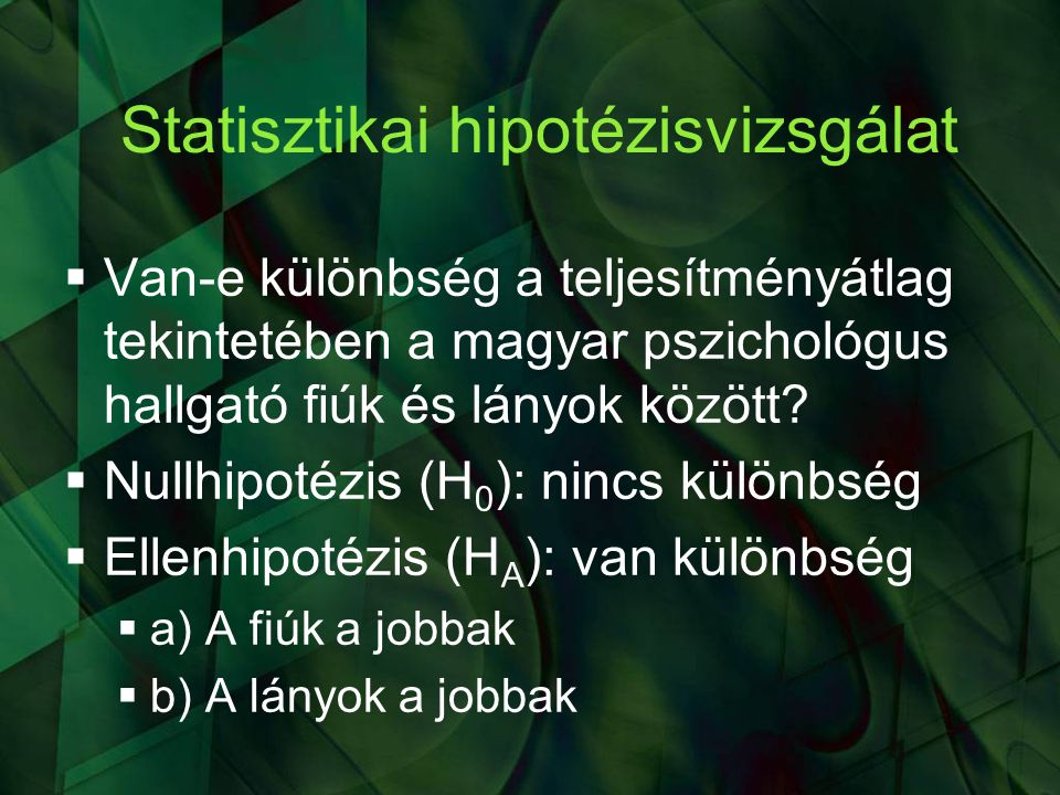 Statisztikai hipotézisvizsgálat
