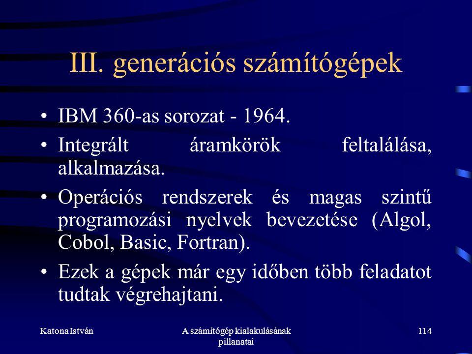 III. generációs számítógépek