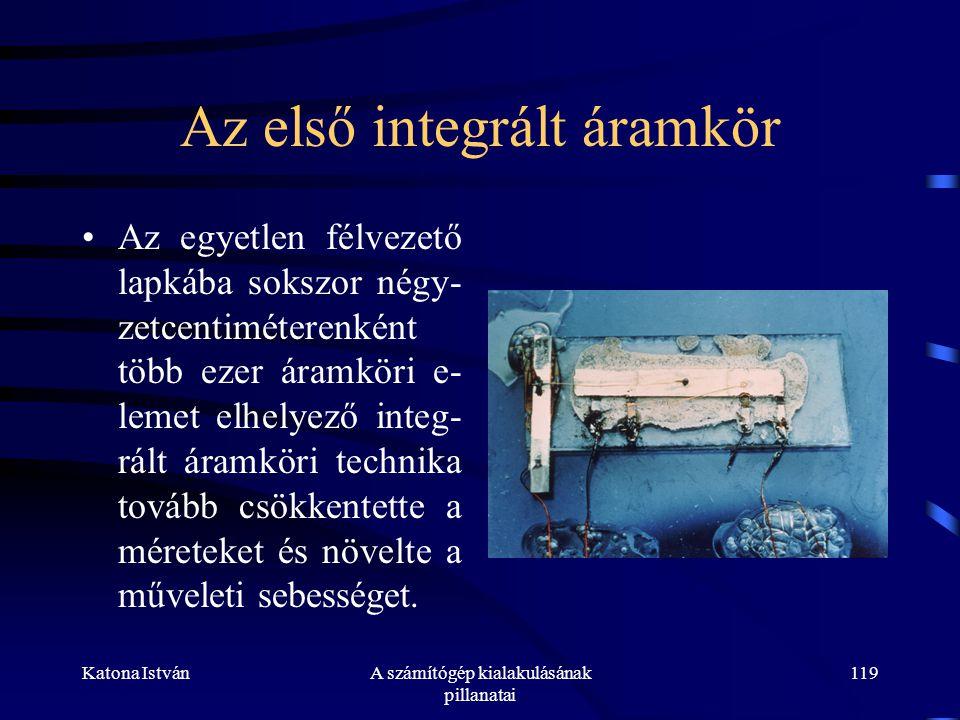 Az első integrált áramkör