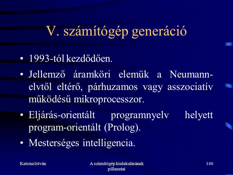 V. számítógép generáció