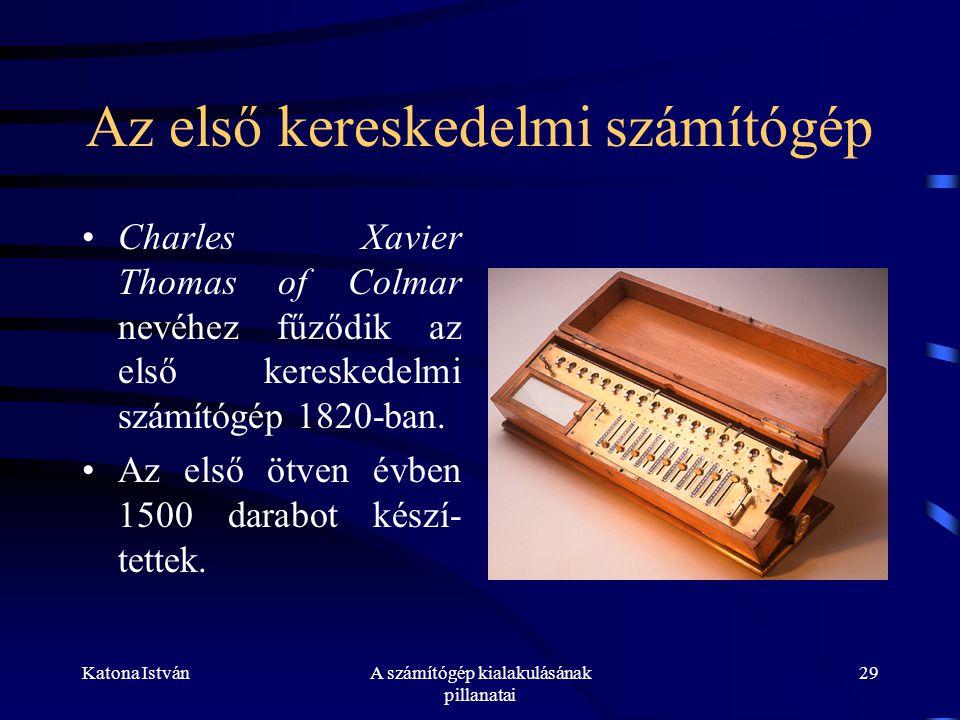 Az első kereskedelmi számítógép