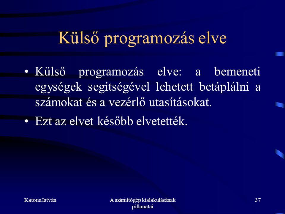 Külső programozás elve
