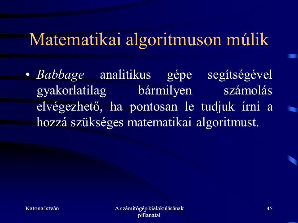Matematikai algoritmuson múlik