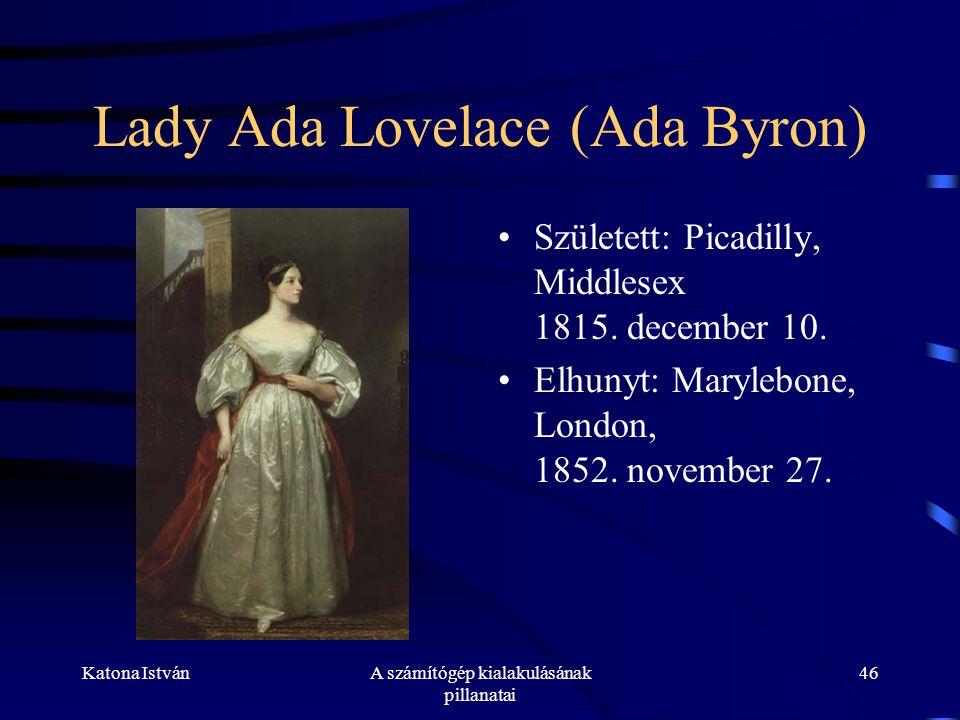 Lady Ada Lovelace (Ada Byron)