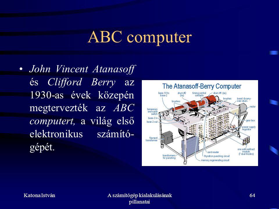 A számítógép kialakulásának pillanatai