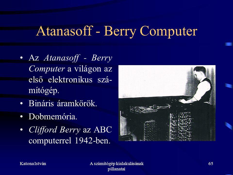 Atanasoff - Berry Computer