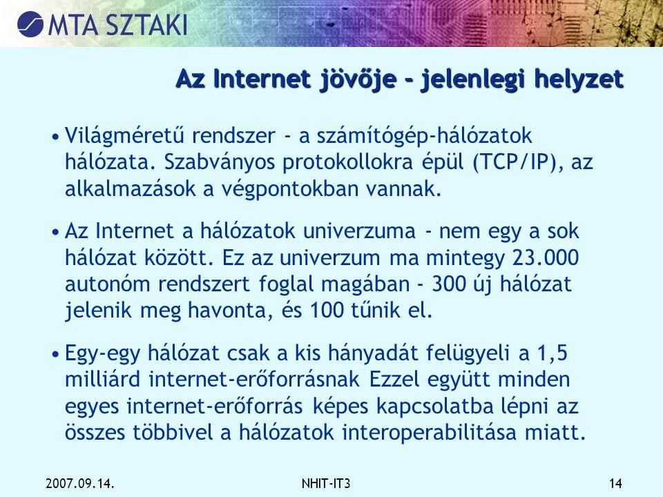 Az Internet jövője - jelenlegi helyzet