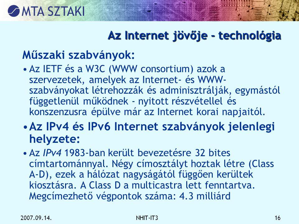 Az Internet jövője - technológia