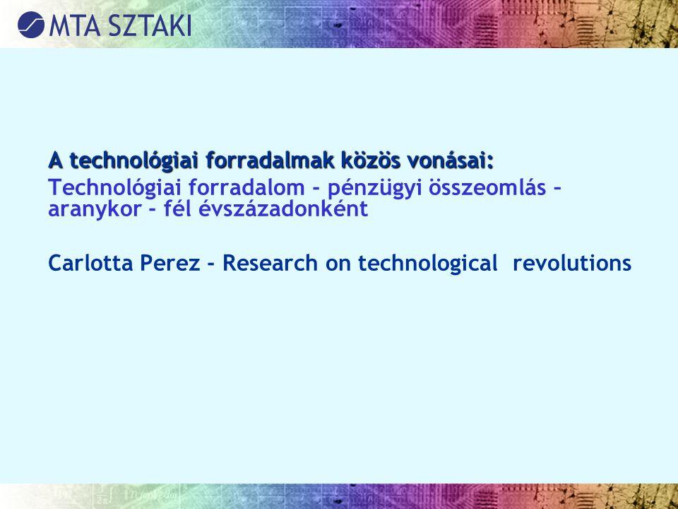A technológiai forradalmak közös vonásai: