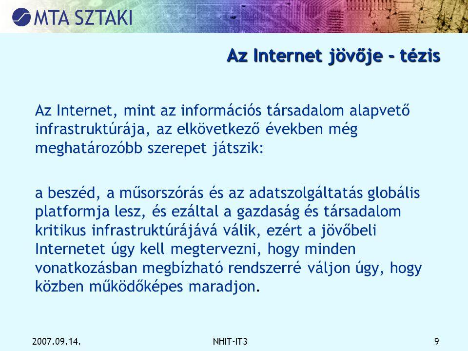 Az Internet jövője - tézis