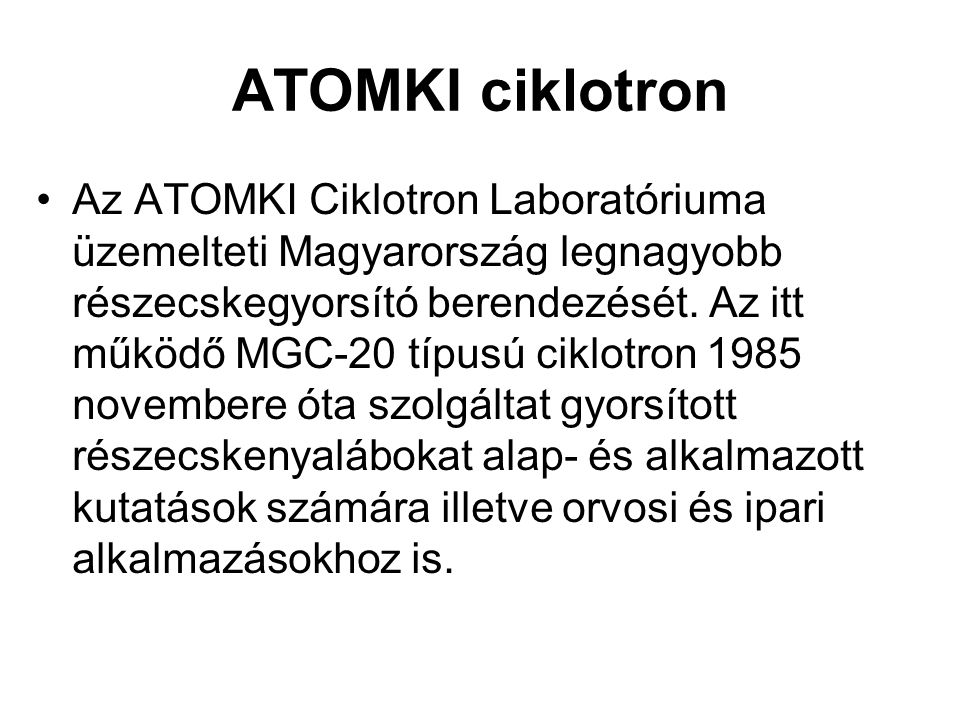 ATOMKI ciklotron