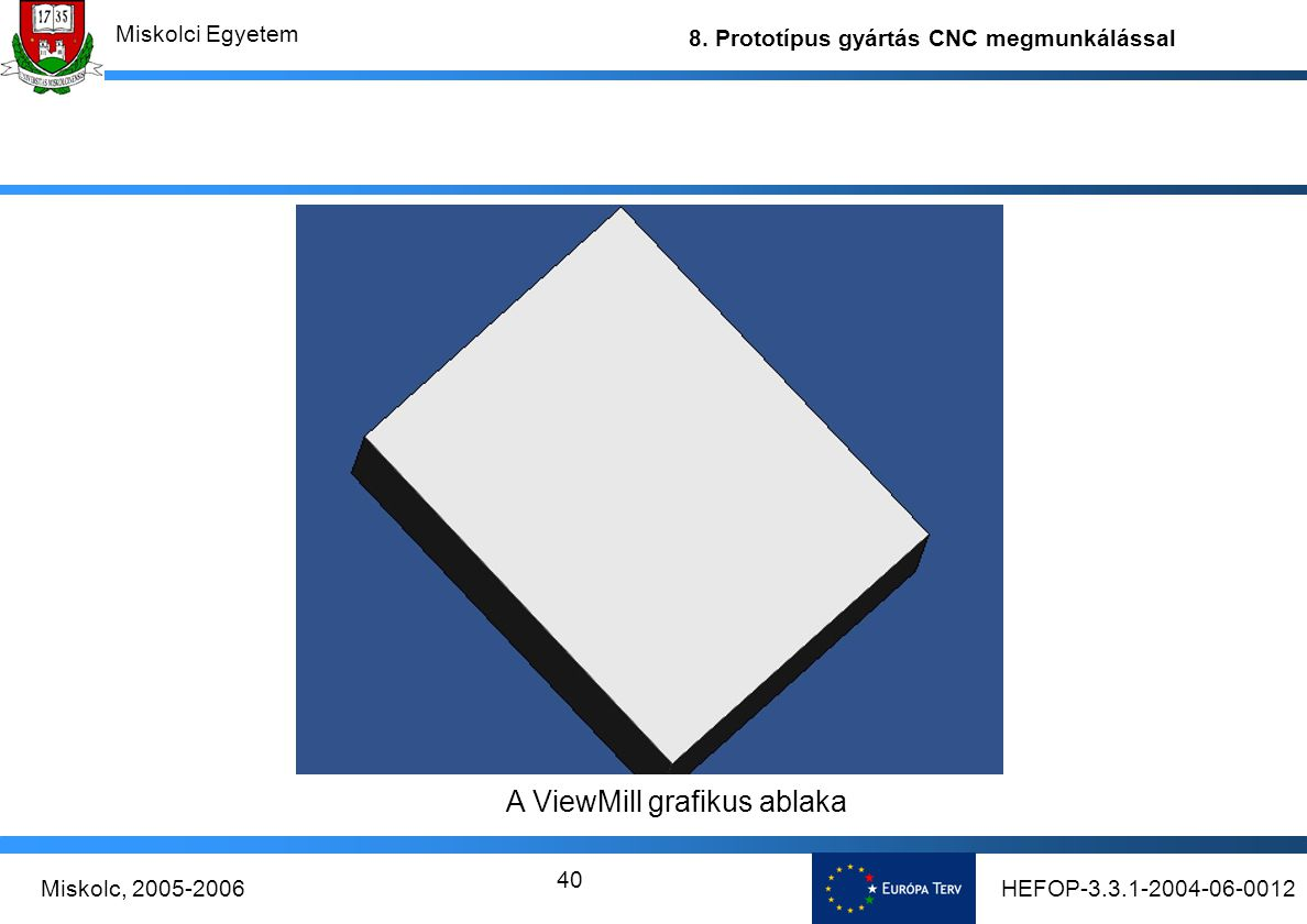 A ViewMill grafikus ablaka