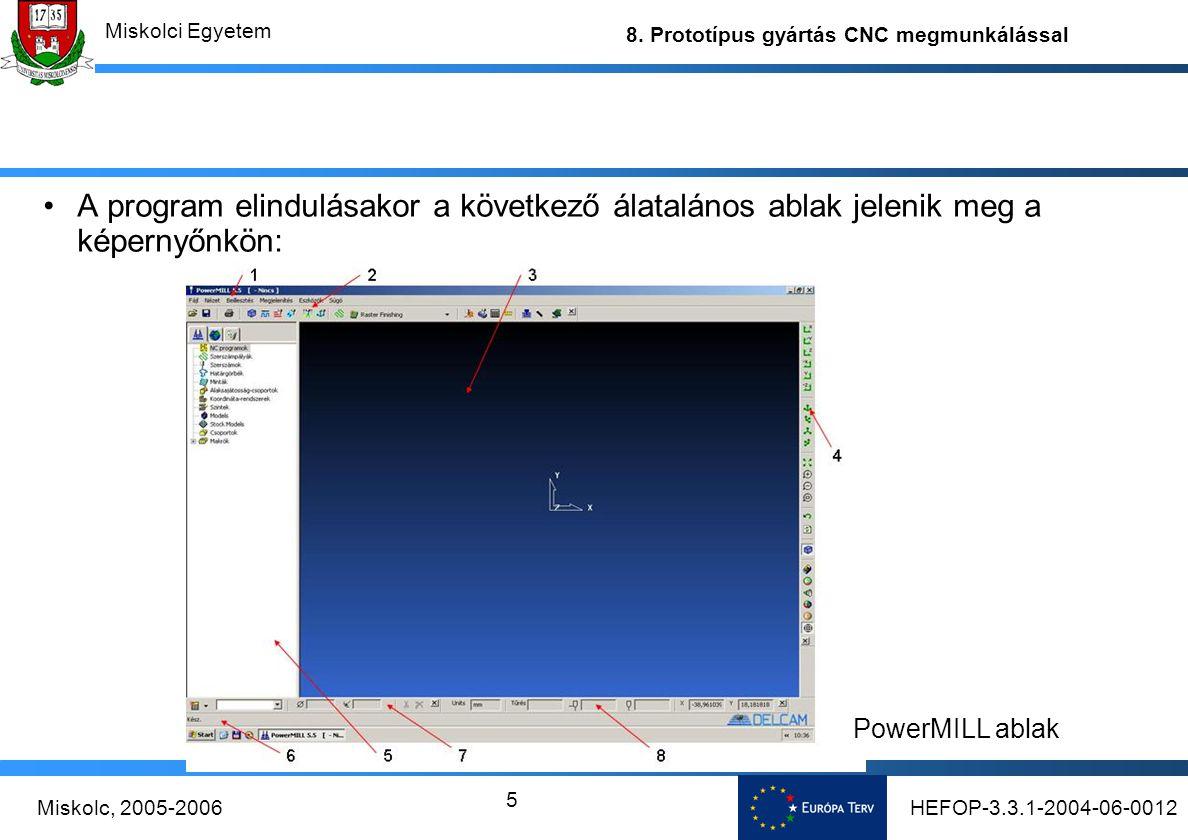 A program elindulásakor a következő álatalános ablak jelenik meg a képernyőnkön: