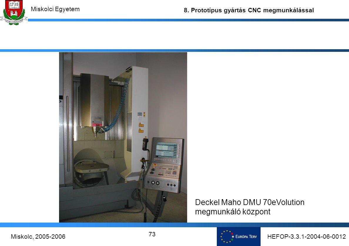 Deckel Maho DMU 70eVolution megmunkáló központ