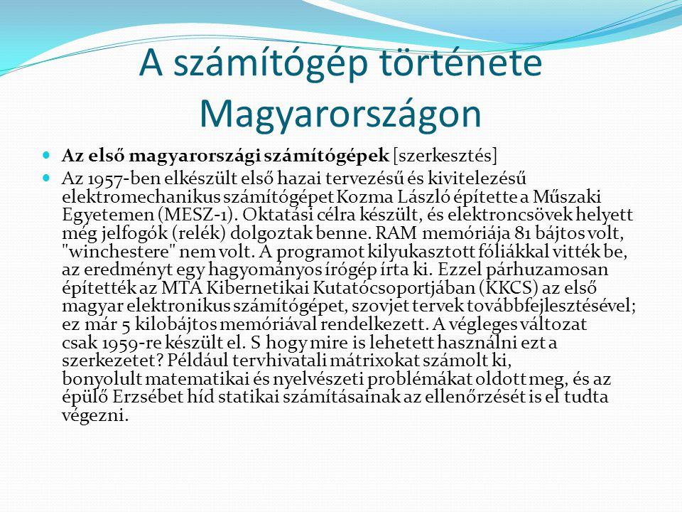A számítógép története Magyarországon