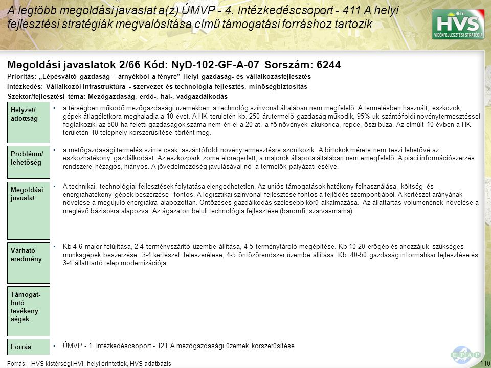 Megoldási javaslatok 2/66 Kód: NyD-102-GF-A-07 Sorszám: 6244
