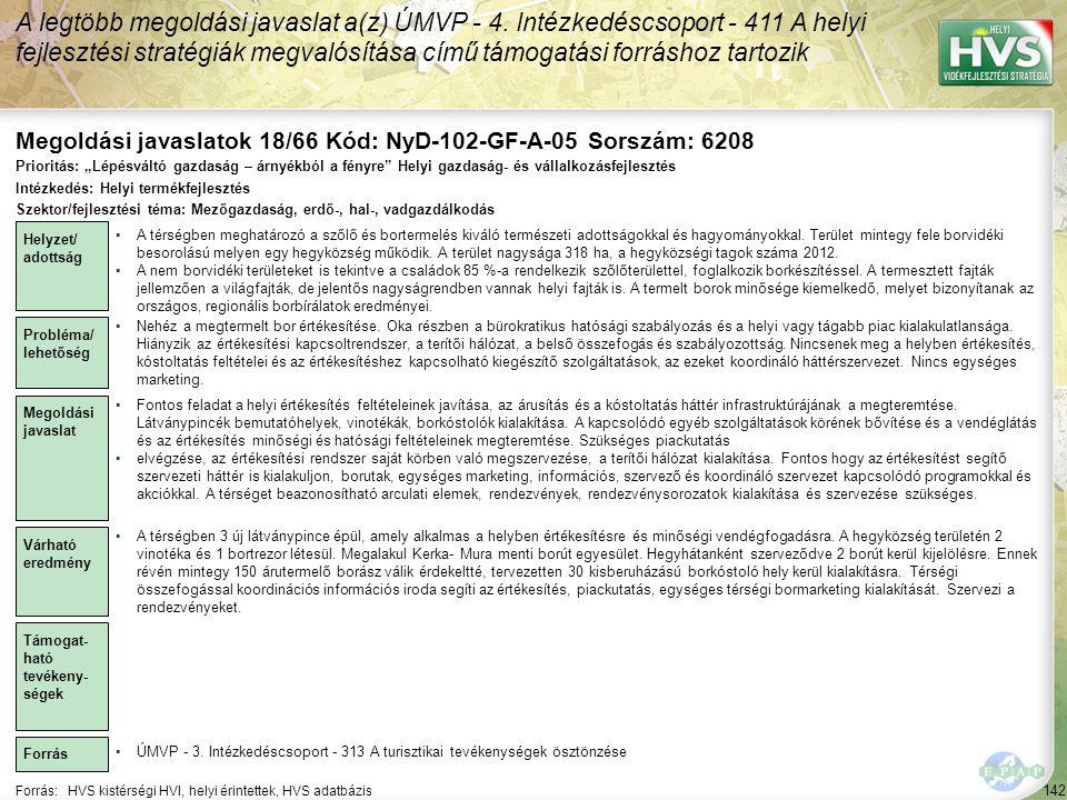 Megoldási javaslatok 18/66 Kód: NyD-102-GF-A-05 Sorszám: 6208