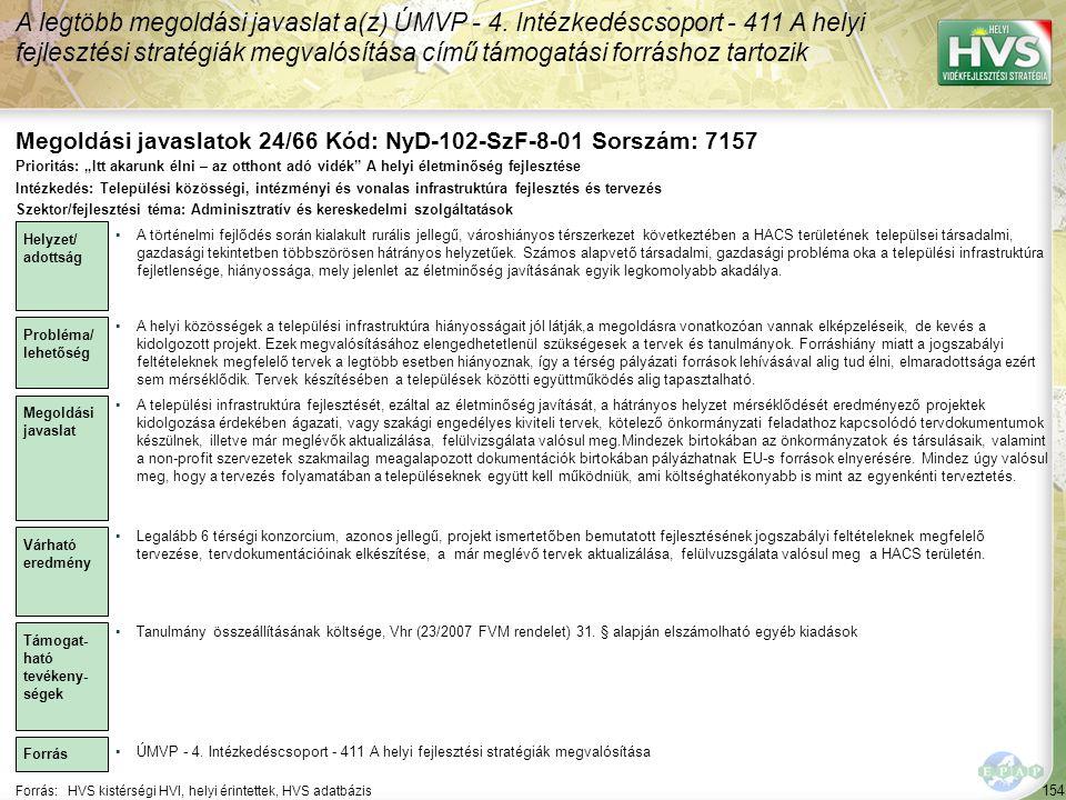Megoldási javaslatok 24/66 Kód: NyD-102-SzF-8-01 Sorszám: 7157