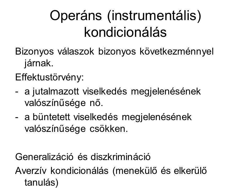 Operáns (instrumentális) kondicionálás