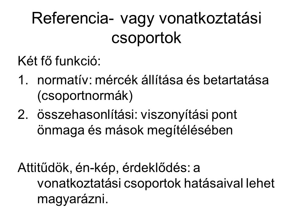 Referencia- vagy vonatkoztatási csoportok