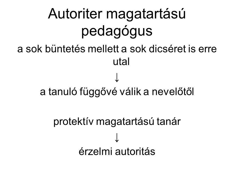 Autoriter magatartású pedagógus