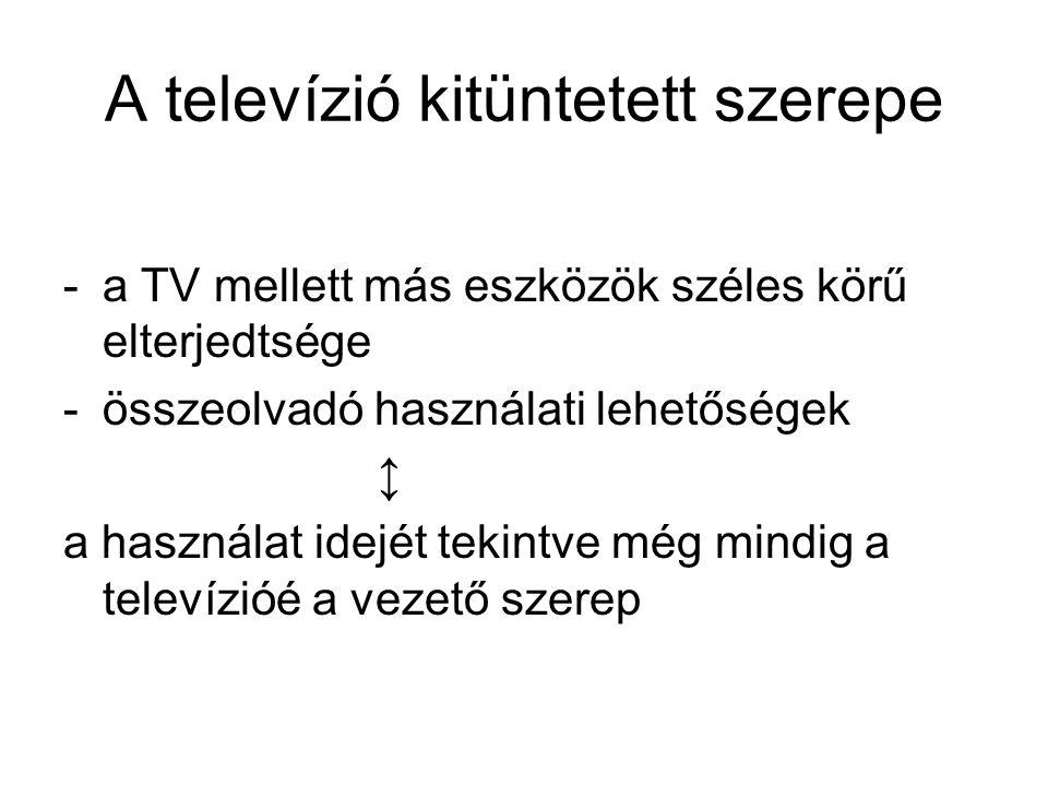 A televízió kitüntetett szerepe