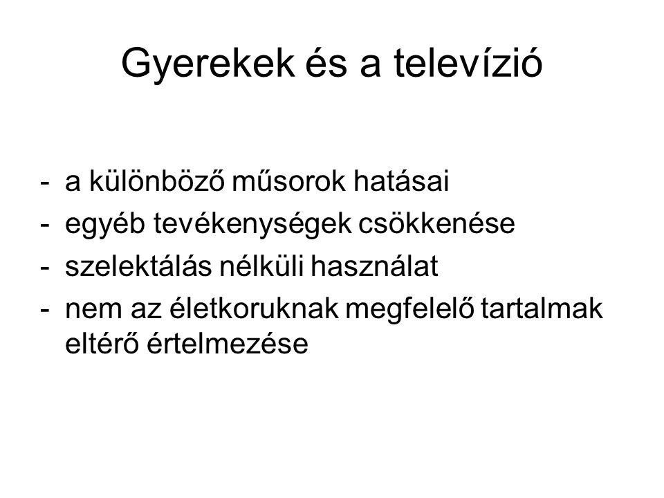 Gyerekek és a televízió