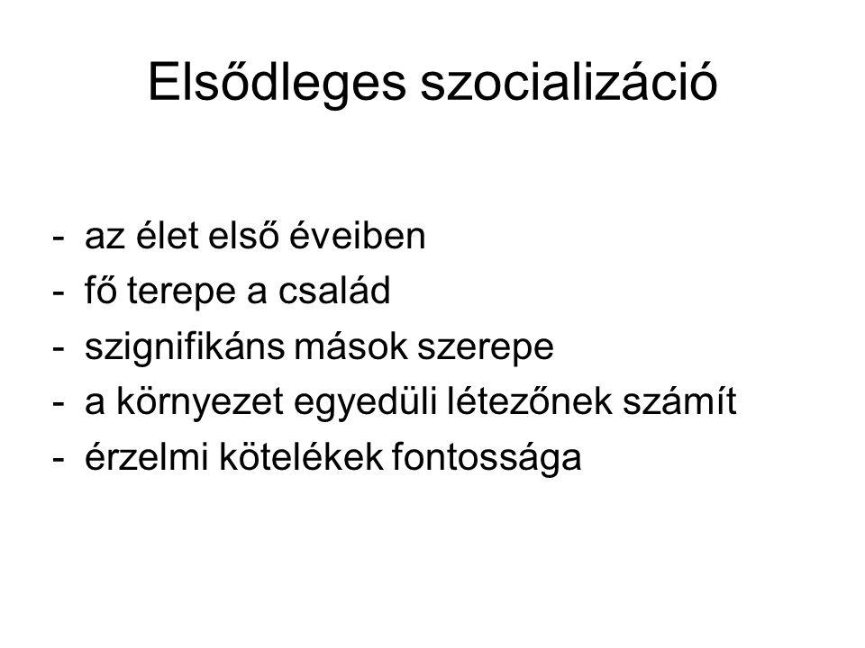 Elsődleges szocializáció
